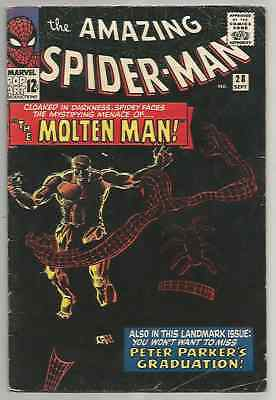 Amazing Spiderman #28 - 1st appearance of the Molten Man! 4.5 - 5.5 est grade!