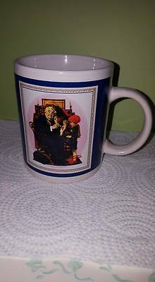 """Vintage Norman Rockwell Collection Mug 03/09/1929 """"Dr & Doll""""; Curtis Publishing"""