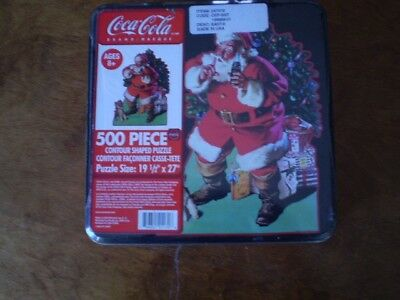 VINTAGE COCA COLA 500 Pc. Puzzle Christmas Santa In Collectible Tin- SEALED
