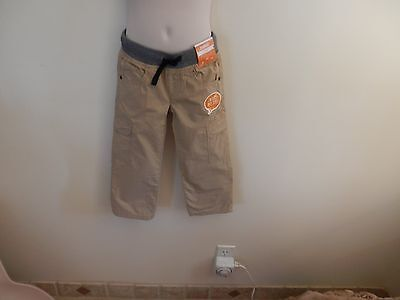 NWT $37 Boys 3T Cargo Pants, Lined w/Jersey, Elastic Banded Waist & Draw String