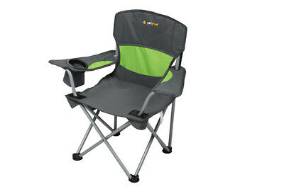 Oztrail Deluxe Junior Arm Chair Green Kids Camping Chair