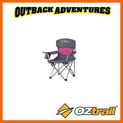 Oztrail Deluxe Junior Arm Chair Pink Kids Camping Chair