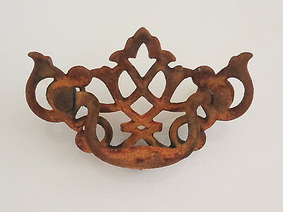 rusted hardware - rusty drawer pulls - vintage hardware -  drawer handles