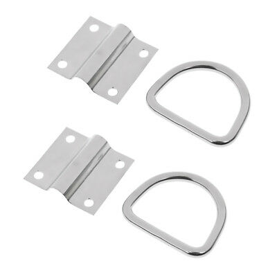 2x Tie Down Lashing Eye Ring / Anchor Ring Point Stainless Steel Heavy Duty
