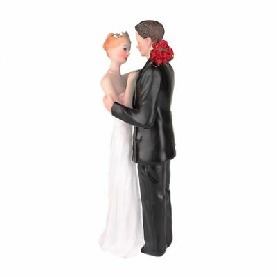 1 white + black resin bride and groom love romance decoration ornaments gro D8Y5