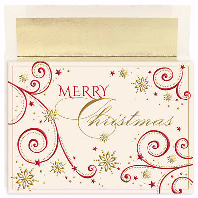 Christmas Swirls Holiday Collection 16 pack Boxed Christmas Holiday Cards