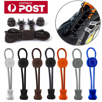 Shoe Laces Unsiex Adults Kids Elastic No Tie Locking Shoelaces Sports Sneaker AU