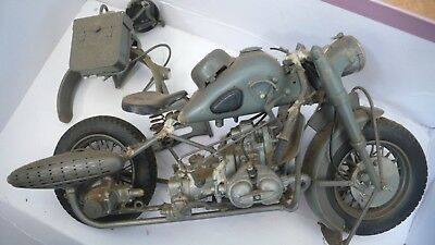 World War 2 Motorbike Model, WWII German Motorcycle Parts only- Sell for Charity
