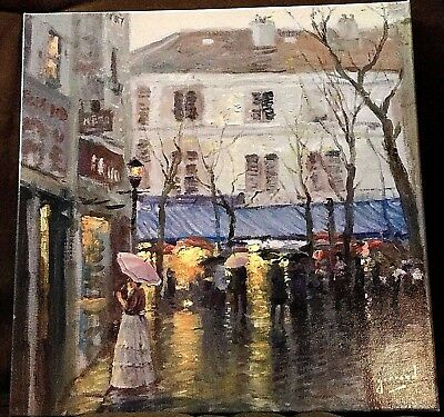 "Montmartre 14"" x 14"" Wrapped Canvas by Robert Girrard (Thomas Kinkade)"