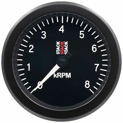 Stack ST100 85mm Track Race Car Tachometer With Black Dial Face | 0-8,000 Rpm
