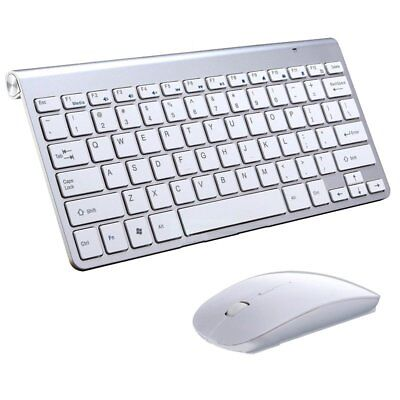 Wireless Keyboard And Mouse Combo Set 2.4G For Mac Apple Pc Full Size Slim US