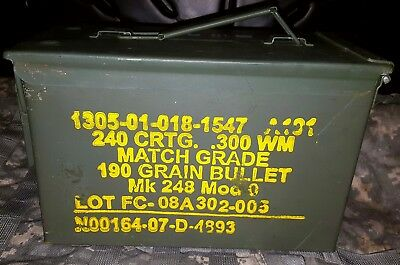 Ammo Can, US ARMY, Metal Storage box, M2A1, Military, Hunting, Camping, 50 Cal.