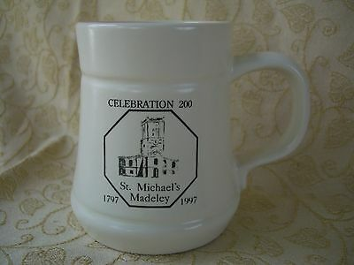 Prinknash Pottery Mug, celebration 200yr for st Michaels  Madeley, 1797-1997