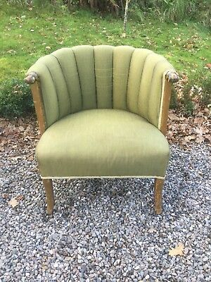 Antique Art Deco Upholstered Tub Chair