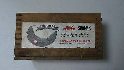 Antique, Simonds Saw And Steel Co. Wood Box, Empty Box - Box Only!