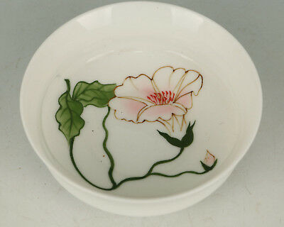 Chinese Porcelain Collection Handmade Painting Lotus Flower Wine Tea Cup Bowl