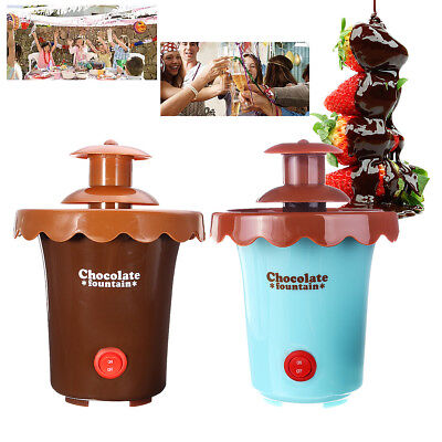 Mini Chocolate Fondue Fountain Maker 2 Tiers Party Waterfall Melting Machine