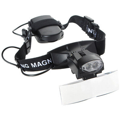 T8 5 Lens LED Light Lamp Loop Head Headband Magnifier Magnifying Glass Loupe Y