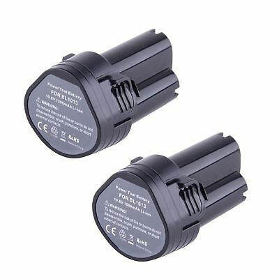 2X 10.8 Volt Li-ion Battery for Makita BL1013 194551-4 194550-6 S5Q2