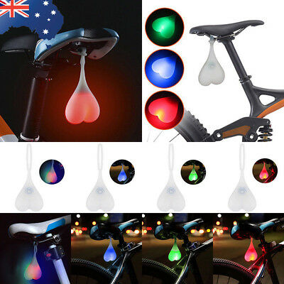 Silicone Bike Bicycle Back Rear Tail Cycling LED Light Heart Ball Egg Lamp AU