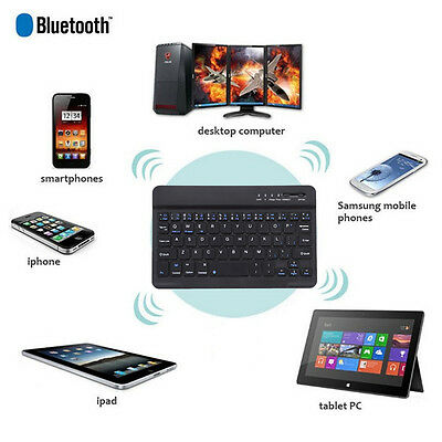 "7"" Bluetooth 3.0 Mute Wireless Keyboard Ultra Slim Apply to WINDOWS Android IOS"
