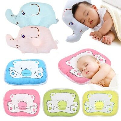 Newborn Infant Baby Pillow Sleeping Support Cushion Pad Prevent Flat Head Cotton