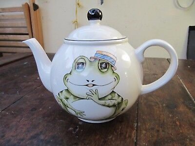 Arthur Wood Back To Front Frog  Teapot 4 Person Pot