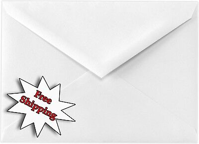 White Baronial 60lb Envelopes Pointed Flap for Wedding Enclosures Invitations A2
