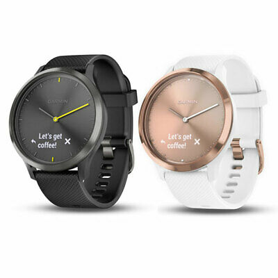 Garmin Vivomove Sport HR Weiß Fitnesstracker Sportuhr Herzfrequenz Smartwatch