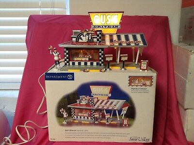 DEPT 56 - Snow Village - GUS'S DRIVE-IN 3 D Scene - Complete - #55067 must see !