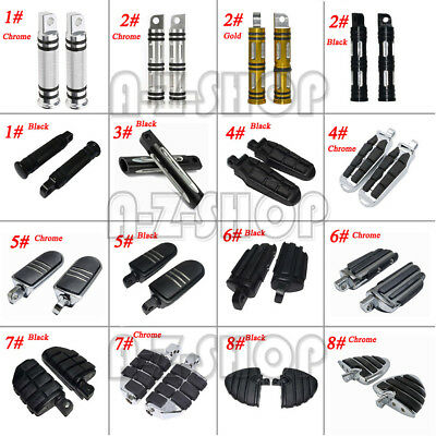 Universal Footrests Footpeg Pedals Foot Pegs Rest For Harley-Davidson Motorcycle