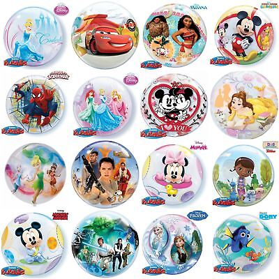"""Disney Character Bubble Balloons Birthday Party Decorations 22"""" Helium"""