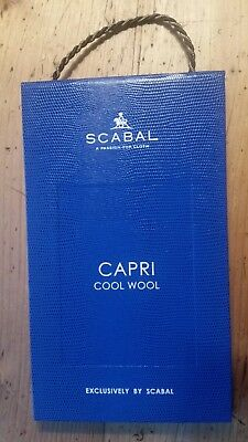 SCABAL London Stoffe Stoffmuster Mappe CAPRI Cool Wool Exclusively  SCABAL 2245