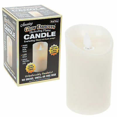 Glow Dancers LED Light Real Wax Candle Flickering Flame Battery Operated #9127
