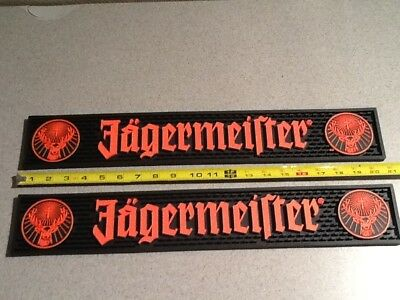Lot of 2 NEW Jagermeister Jager Bar Spill Mat Rail Runner ***NOTE***