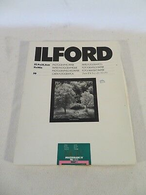 Ilford Multigrade IV FB MGIF.1K Fiber 11x14 50 Sheets Glossy Black White Paper