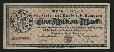 Hamburg 1 Million Notgeldschein ❚c1920a