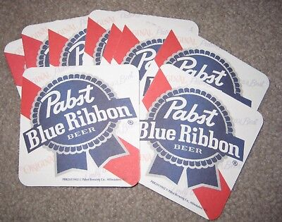 (10) NEW Pabst Blue Ribbon Beer Bar Can Coasters PBR