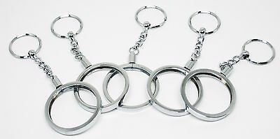 Key Chain 5 Silver Color Casino Poker CHIP HOLDERS NEW  FREE SHIPPING *