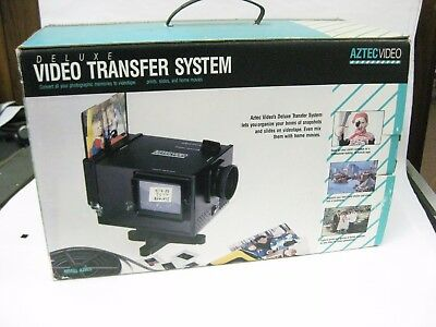 Aztec video transfer system. Super 8, 8mm, 16mm and slides and photos with box