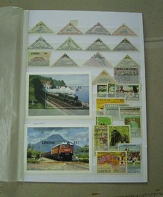 Liberia Mint And Used Stamp Selection Plus Two Mint Miniature Sheets
