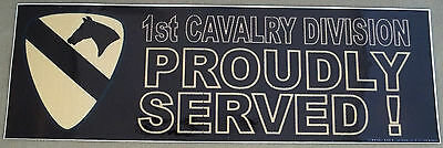 US Army1st Cavalry Division Proudly Served Decal - Bumper Sticker - style A