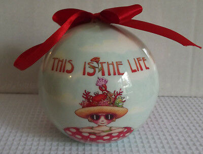 Mary Engelbreit This is the Life Christmas Large Ball Ornament Cape Shore New
