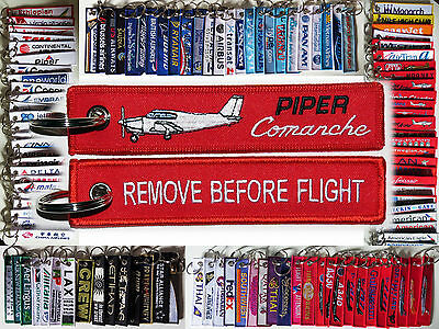 Keyring PIPER COMANCHE PA-24 Remove Before Flight tag keychain pilot