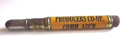 Vintage PRODUCERS CO OP COMM ASS'N JOINT STOCK YARDS Pittsburgh PA Bullet Pencil