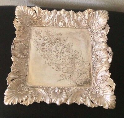 Antique Middletown Plate Co Quadruple Silver Hard White Metal 1899 B.CFruit Tray