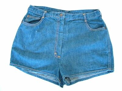 Vintage 70s M&S high-waisted short denim shorts, UK 12  M