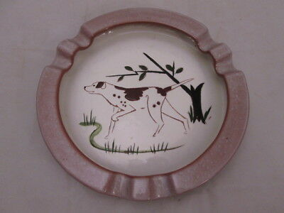 Stangl Pottery Round Ashtray Pointer Setter Hunting Dog 1940s-50s