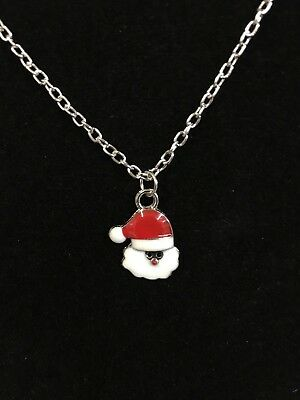 SANTA CLAUS Necklace jewelry christmas stocking stuffer PARTY FAVOR gift #55