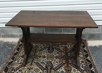 Antique 1900s Stickley Style Arts & Craft Mission Oak Dining Room Table
